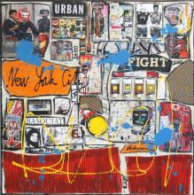 Tableau Tribute to Basquiat : Artiste peintre Sophie Costa