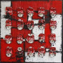 Tableau Geometric coke : Artiste peintre Sophie Costa