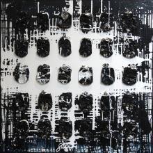 Tableau DARK BLUE : Artiste peintre Sophie Costa