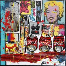 Tableau Tribute to Andy Warhol : Artiste peintre Sophie Costa
