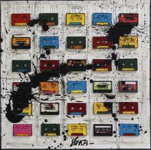 Tableau Audio Tape Mania : Artiste peintre Sophie Costa