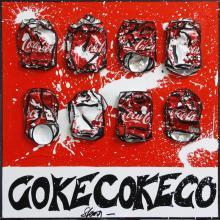 Tableau COKE COKE : Artiste peintre Sophie Costa