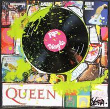 Tableau Queen Vinyle : Artiste peintre Sophie Costa