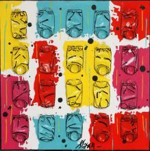Tableau CANDY # 2 : Artiste peintre Sophie Costa