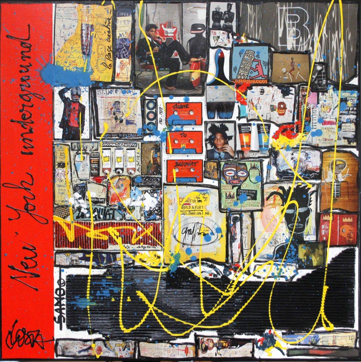 basquiat, collage Tableau Contemporain, Basquiat Inception. Sophie Costa, artiste peintre.