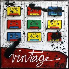 Tableau Vintage Tape : Artiste peintre Sophie Costa