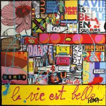 Tableau La vie est belle #4 : Artiste peintre Sophie Costa