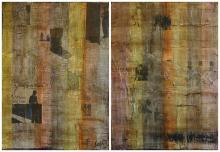 Tableau abstrait contemporain, New World